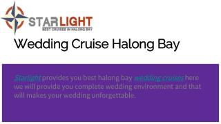 Wedding cruise halong bay