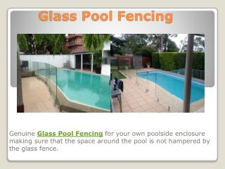 Glass Pool Fencing, Glass Balustrade, Sydney fencing