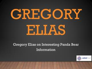 Gregory Elias on Interesting Panda Bear Information