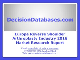 Reverse Shoulder Arthroplasty Market Research Report: Europe Analysis 2016-2021