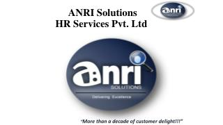 ANRI SOLUTIONS HR SERVICES PVT. LTD.