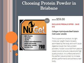 Choosing Best Protein Powder In Brisbane