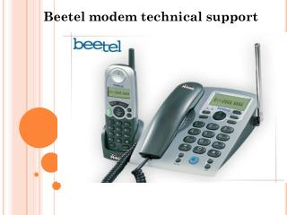 Beetel Modem/Router Technical Support Customer Service Number