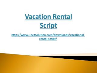 Vacation Rental Script