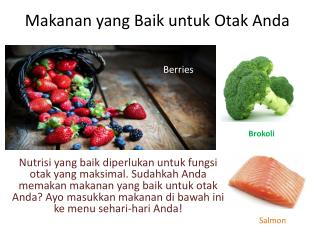 Makanan yang Baik untuk Otak Anda
