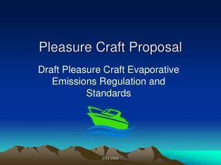 Pleasure Craft Proposal