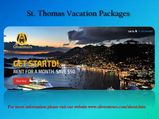 St thomas vacation packages