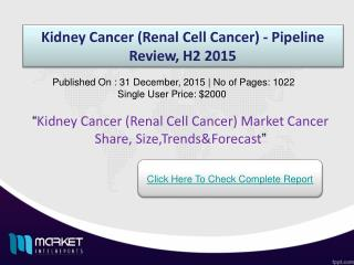 Key Factors Kidney Cancer (Renal Cell Cancer) Market  2015
