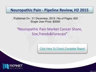 Strategic Analysis on Neuropathic Pain Market 2015