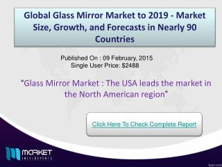 Glass Mirror Market: widely used in medical apparatus and checking tools