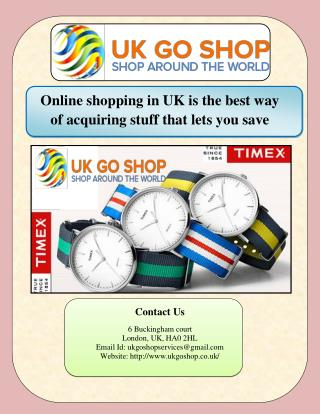 Online shopping in UK is the best way of acquiring stuff that lets you save