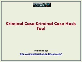 Criminal Case-Criminal Case Hack Tool