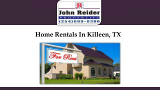 Home Rentals In Killeen, TX