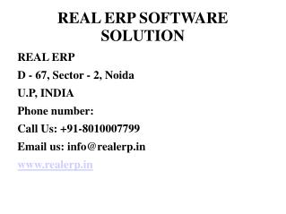 Real ERP Software Solution For All Need