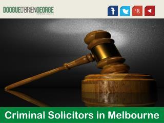 Criminal Solicitors in Melbourne