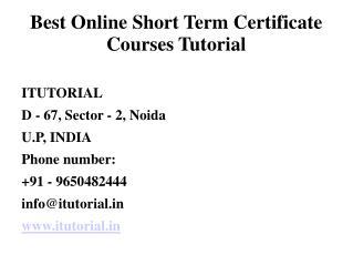 Best Online Short Term Certificate Courses Tutorial
