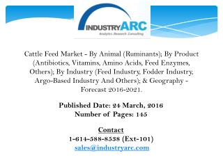Cattle Feed Market gaining importance along with increasing acceptance of cattle feed additives.