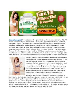 Garcinia Cambogia ZT Reviews