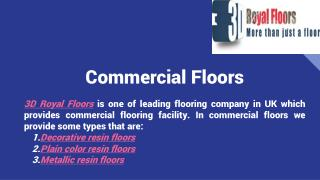 commercial resin flooring