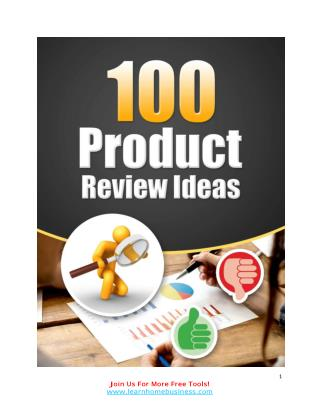 100 New Product Review Ideas... That Always Works