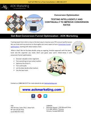 Get Best Conversion Funnel Optimization - AOK Marketing