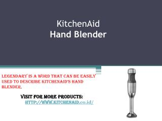 KitchenAid Hand Blender In Indonesia