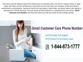 Gmail customer care toll free 1-844-873-1777 Number