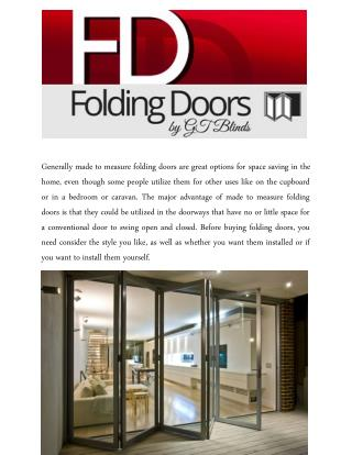 Vinyl-Cloth Folding Doors