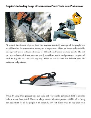Looking for best range of Makita Drill,Stihl Chainsaw tools