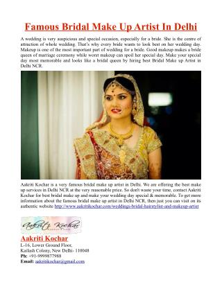 Famous Bridal Make Up Artist in Delhi NCR