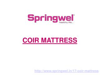 Coir Mattress - Springwel