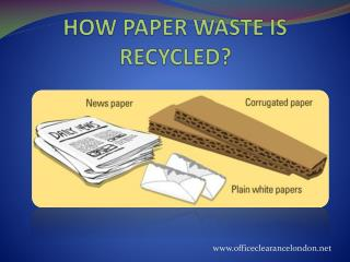 How Paper waste is Recycled?