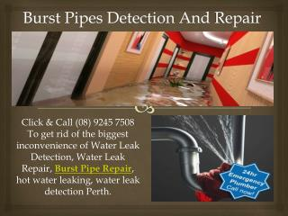 Burst Pipes Detection And Repair