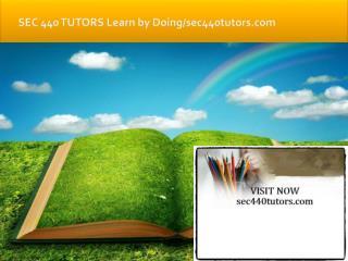 SEC 440 TUTORS Learn by Doing/sec440tutors.com