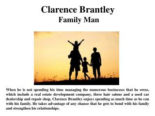 Clarence Brantley Family Man