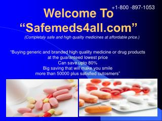 Buy Cheap Generic Drugs Online – Safemeds4all