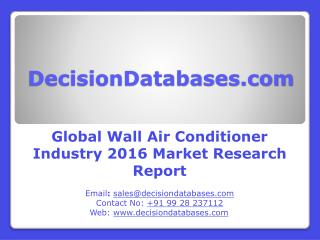 Wall Air Conditioner Market Research Report: Worldwide Analysis 2016-2021