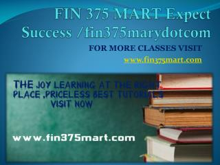 FIN 375 MART Expect Success fin375marydotcom
