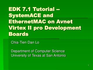 EDK 7.1 Tutorial -- SystemACE and EthernetMAC on Avnet Virtex II pro Development Boards