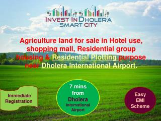 Agriculture land Sale in Dholera SIR