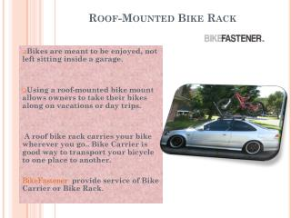 Know Features of Car bike carrier