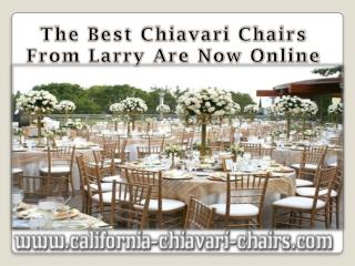 The Best Chiavari Chairs From Larry Are Now Online