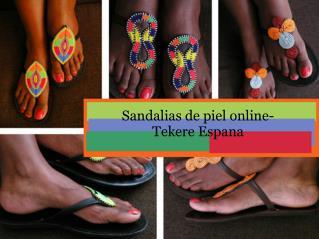 Sandalias de piel online-Tekere Espana