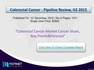 Colorectal Cancer Market Forecast & Future Industry Trends