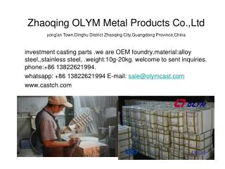 lost wax casting precision investment castings cnc maching parts
