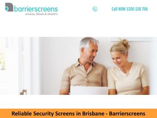 Reliable Security Screens in Brisbane – Barrierscreens