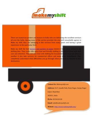 Home Moving Service Companies In Jaipur