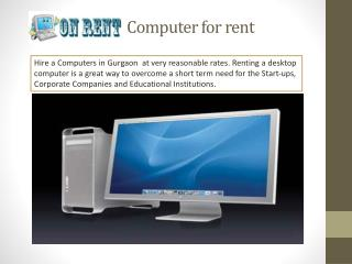 Computer Rent in Delhi