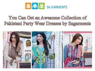You Can Get an Awesome Collection of Pakistani Party Wear Dresses by Sagarments