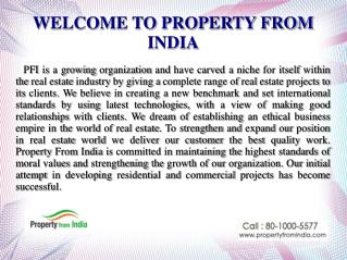 Property From India Online Portal For Commercial And Residential Project